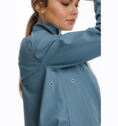 Linny Long Rain Jacket, Blue Heaven