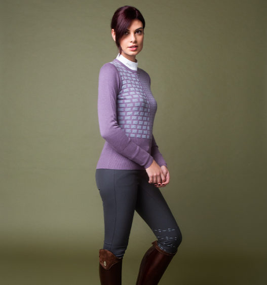Round Neck Equestrian Sweater