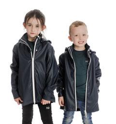 Kid's Rain Jacket, Dark Navy