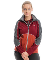 Eliza Waterproof Softshell , Charcoal/Redwood