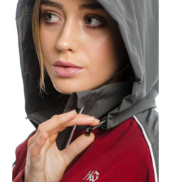 Eliza Waterproof Softshell, Charcoal/Redwood