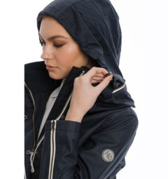 Karlie Waxed Jacket, Navy