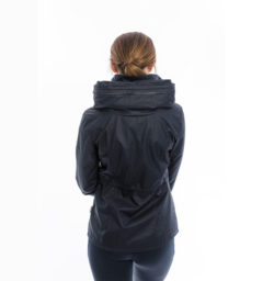 Karlie Waxed Jacket, Navy, back view