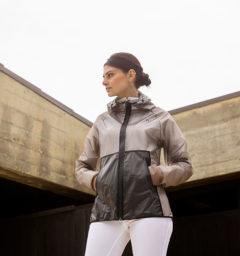Ladies Clear Waterproof Coat, Sandstone