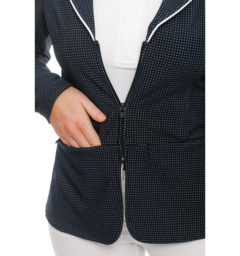 Ladies WeatherTech Competition Jacket, Navy, front detail