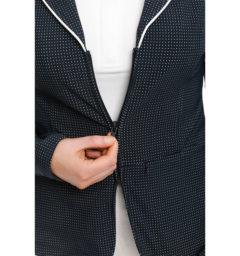 Ladies WeatherTech Competition Jacket, Navy, zip detail