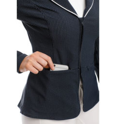Ladies WeatherTech Competition Jacket, Navy, pocket detail