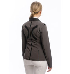 Ladies Flow2 Technical Competition Jacket, Dark Gray back view