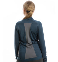 Lane Technical Full Zip Top, Navy/Charcoal back view
