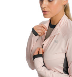 Lane Technical Full Zip Top, Rosewater/Charcoal