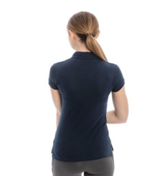Flamboro Pique Polo, Navy, back view