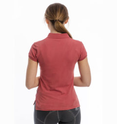 Flamboro Pique Polo, Summer Berry, back view