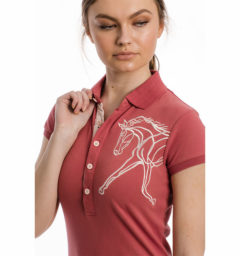 Flamboro Pique Polo, Summer Berry