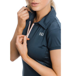 Orla Technical Polo Navy, detail view