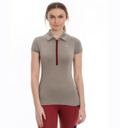 Orla Technical Polo, Silver Cloud, front view