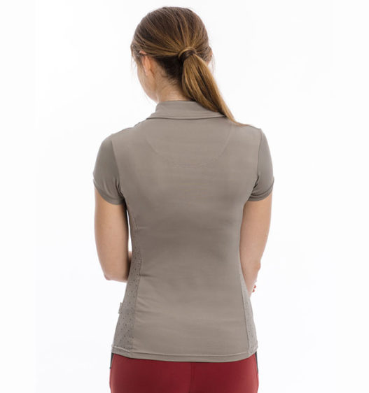 Orla Technical Polo, Silver Cloud, back view