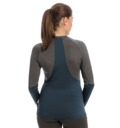 Jade Crew Neck Base Layer, Navy/Charcoal, back view