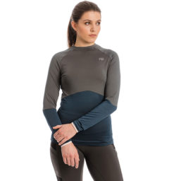 Jade Crew Neck Base Layer, Navy/Charcoal