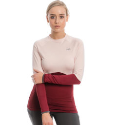 Jade Crew Neck Base Layer, Summer Berry/Rosewater