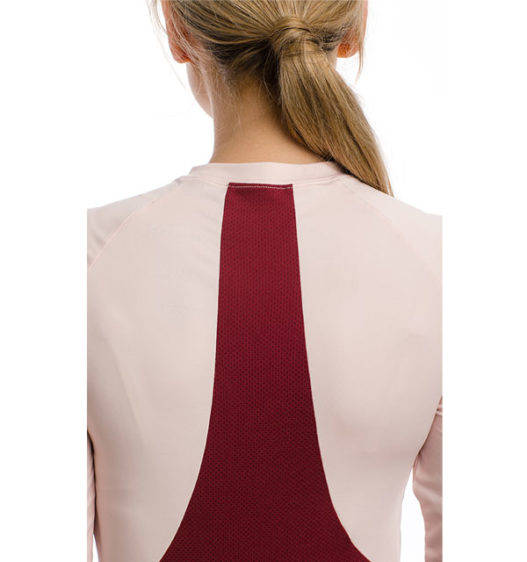 Jade Crew Neck Base Layer, Summer Berry/Rosewater, back view