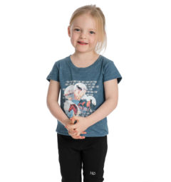 Girl's Novelty Tee - Blue Heaven