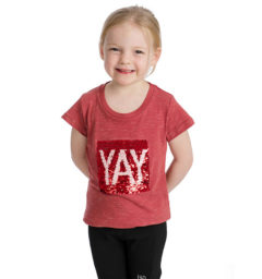 Girl's Novelty Tee - Rose