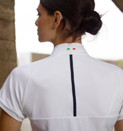 AA Evora Ladies Competition Shirt, White back view