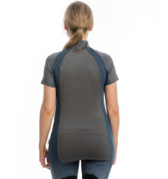 Aveen Technical Short Sleeve Top, Navy/Charcoal, back view