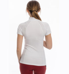 Aveen Technical Short Sleeve Top, White back view