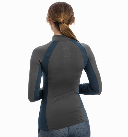Aveen Technical Long Sleeve Top, Charcoal, back view