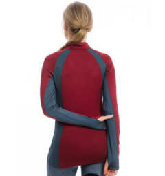 Aveen Technical Long Sleeve Top, Summer Berry, back view
