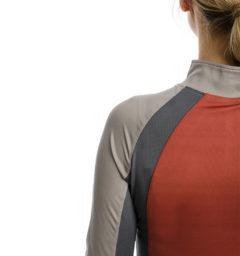 Aveen Technical Long Sleeve Top, Redwood, Detail