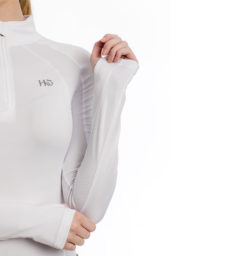 Aveen Technical Long Sleeve Top, White