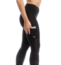 Riding Tights, black. cell phone pocket