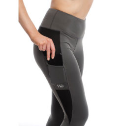 Riding Tights, gray, pocket detail
