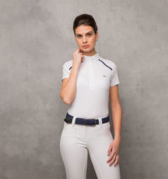 AA Rio Ladies Competition Shirt - White/Navy