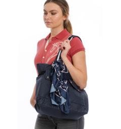 Waxed Tote Bag - Navy