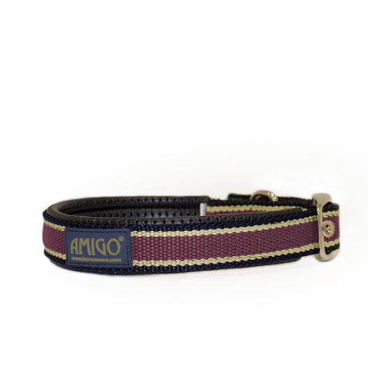 Fig, navy, tan dog collar