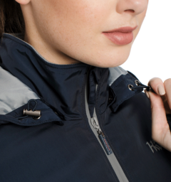 Technical Riding Jacket Zip Close-up Navy