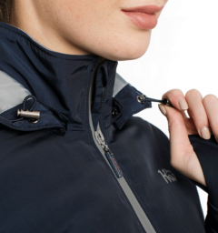 Technical Riding Jacket Zip Detail Navy