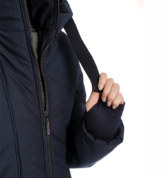 Long line jacket navy detail