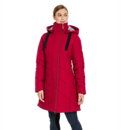 Long line jacket red front