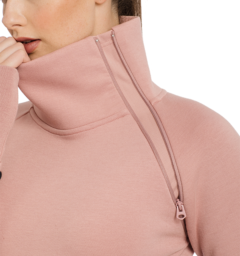 Nova High Neck Misty Rose Zip Detail