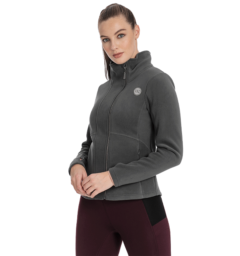 Full zip fleece grey front
