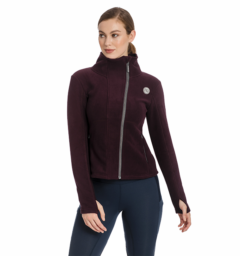 Full zip fleece fig front