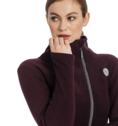 Full zip fleece fig detail