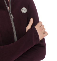 Full zip fleece fig thumbhole