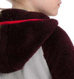 Kids Sherpa Fleece shoulder back