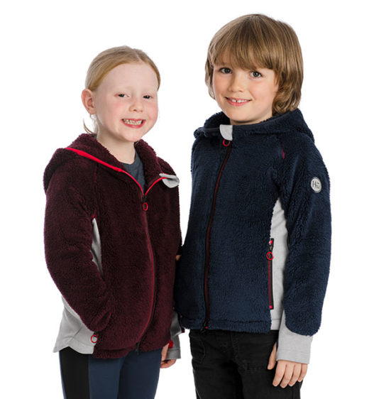 Kids Sherpa Fleece navy and fig