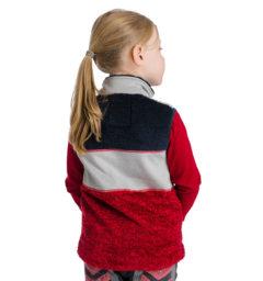 Kids Sherpa Vest back